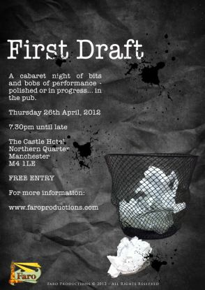 First Draft's first event poster in April 2012