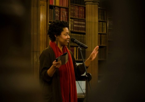 Keisha Thompson performing at VAULTS in the John Rylands Library