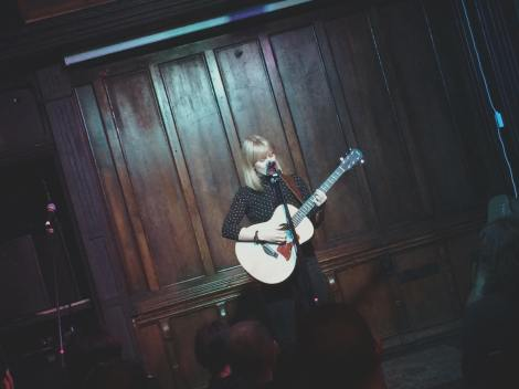 Becky Wilkie performing her set at our Haunted event in October
